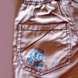 Boys khaki shorts - back
