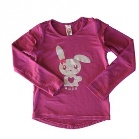 Bunny top long sleeve pink