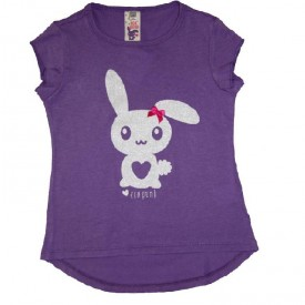 T shirt bunny print - purple