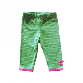 Newborn legging - green stripe