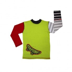 Longsleeve skate top - lime