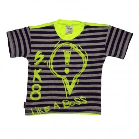 boys stripe t-shirt - purple