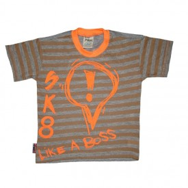 boys stripe t-shirt - stone