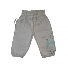 girls woven pants - white