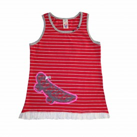 Girls red sleeveless top low res