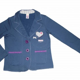 Girls denim blue blazer low res