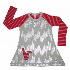 Girls red & grey long sleeve low res