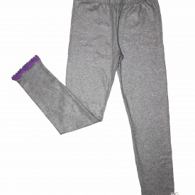 Girls silver grey leggings low res