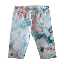 Baby girls turquoise leggings