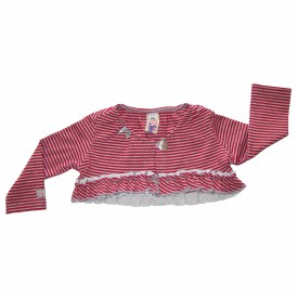 Baby red striped cardigan lr