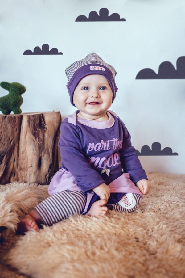 Baby Girls Dress PURPLE and BEANNIE