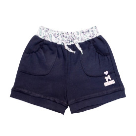 Eco-Punk Girls Shorts Navy
