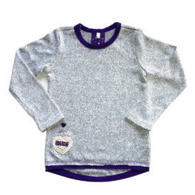 Grey top purple trim