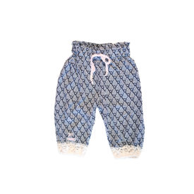 Girls Boho Pants Ceramic Blue