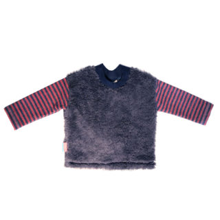 Baby boy top charcoal