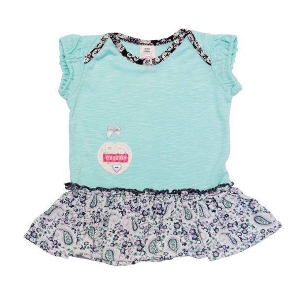 Eco-Punk Baby Dress Mint